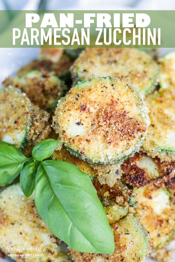 This pan-fried parmesan zucchini recipe is a delicious, easy and unique way to use up your plentiful garden harvest. This simple recipe is sure to be a hit. #zucchini #zucchinisquash #wintersquash #summersquash #friedzucchini #panfriedzucchini #parmesanzucchini #friedzucchinirecipe #easyzucchinirecipe #longbournfarm via @longbournfarm