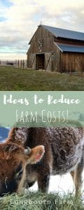 Check out this post for 8 ways you can reduce the cost of your farm. Typical ideas to out-of-the-box ways you can save a buck.