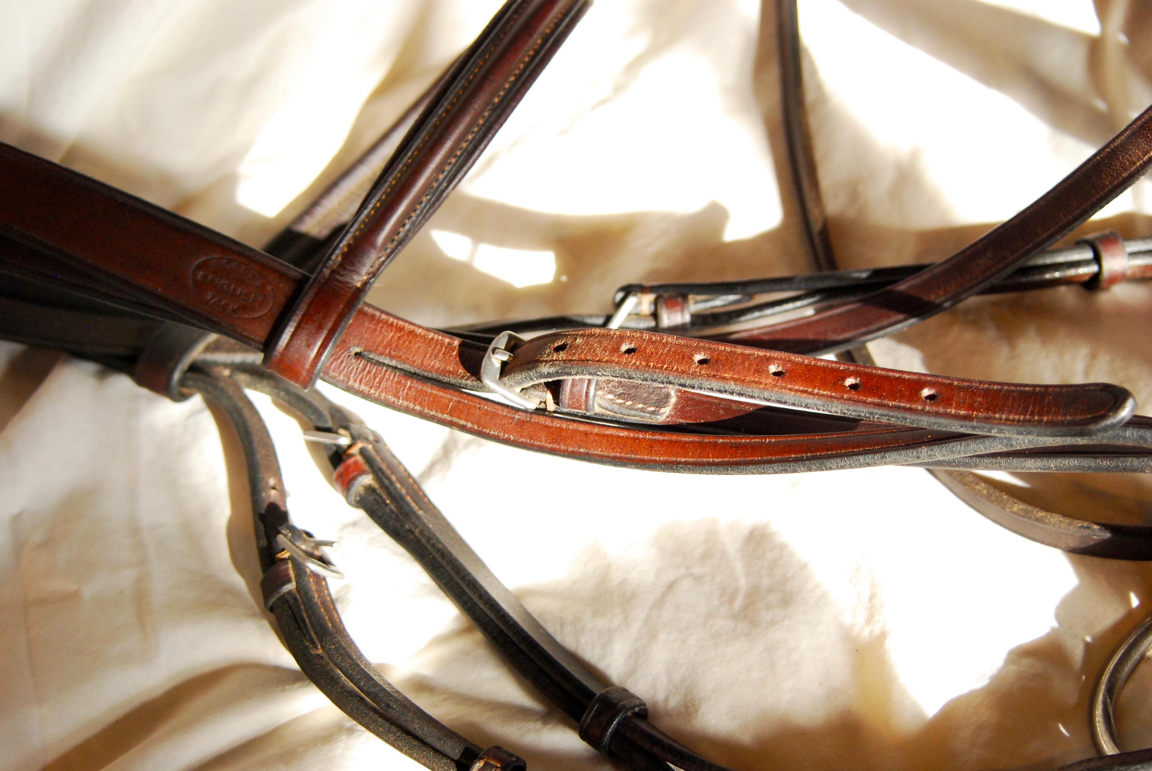 Partially unbuckled strap