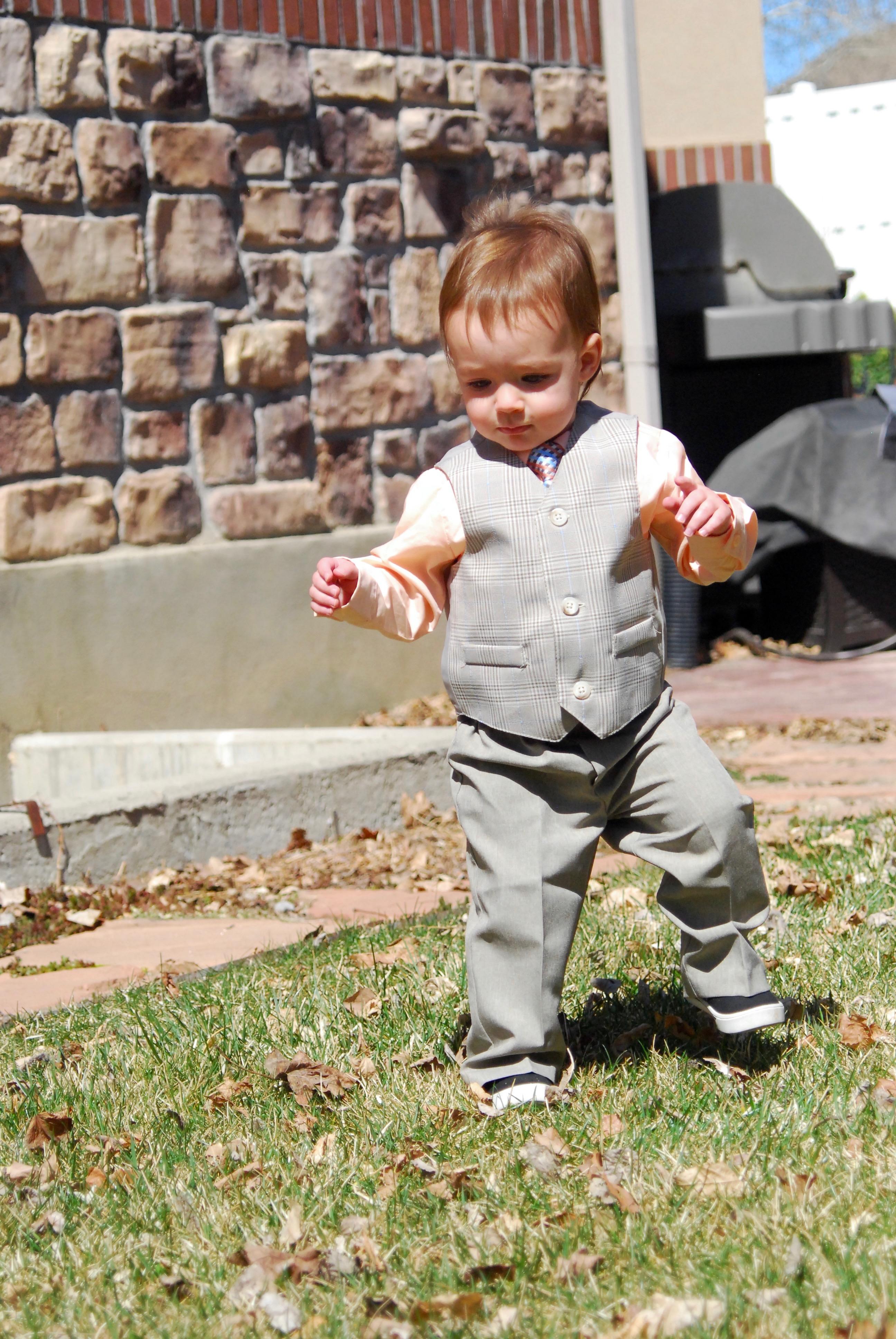 Abram in his Suit