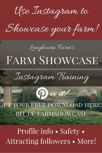 Learn how to showcase your farm to friends and family, or an even bigger audience using Instagram! Free training!