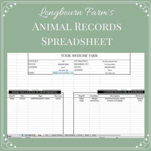 Animal Records Spreadsheet Download