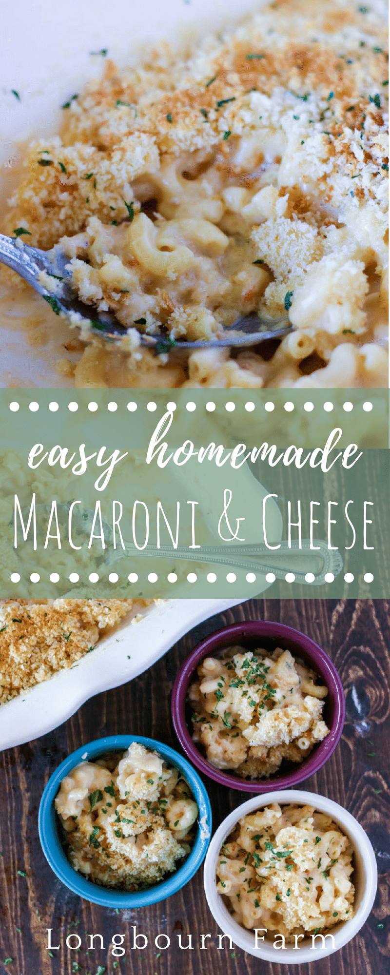 Easy homemade macaroni and cheese recipe! Cheesy, creamy, and quick this recipe is a family favorite and the perfect match for any meal!