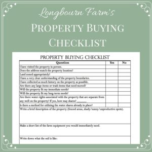 Buying a Property Checklist and Worksheet