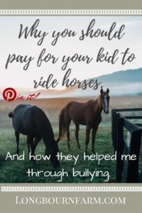 The life lessons horses taught me and the confidence they gave me, in spite of bullying.