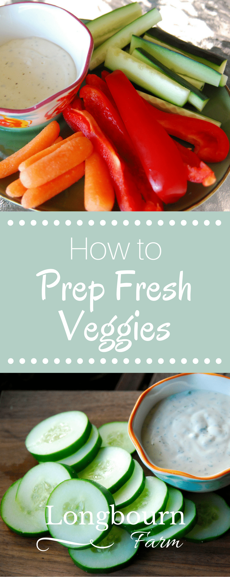 Follow these veggie tips to learn the easiest way to serve fresh veggies with any meal! Dress them up or down, they make a quick and easy healthy side dish.