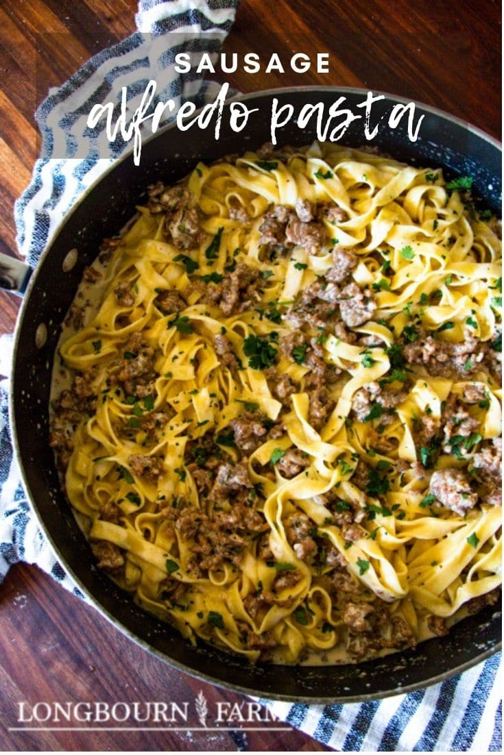 This sausage alfredo pasta is an easy dinner meal that packs a lot into every bite. Made with minimal ingredients and effort you'd think this was a fancier dish, but the simplicity only helps to highlight the wonderful tastes.