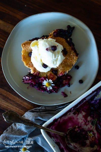 Blueberry & Peach Cobbler