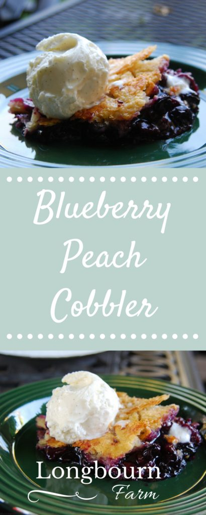 Blueberry and Peach cobbler is a delicious combination of summertime fruit that switches up the typical cobbler. This recipe is perfect for any occasion!