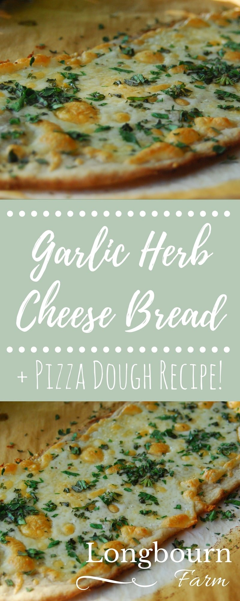This Garlic Cheese Bread is homemade, freezer friendly, and packed with flavor. It is a showstopper side for any pizza, pasta, or salad. via @longbournfarm