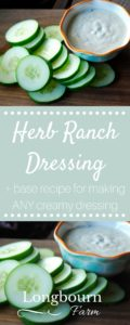 Homemade Ranch Dressing is so easy to throw together and tastes amazing! Customize it to your preference for a perfect dip or salad every time.