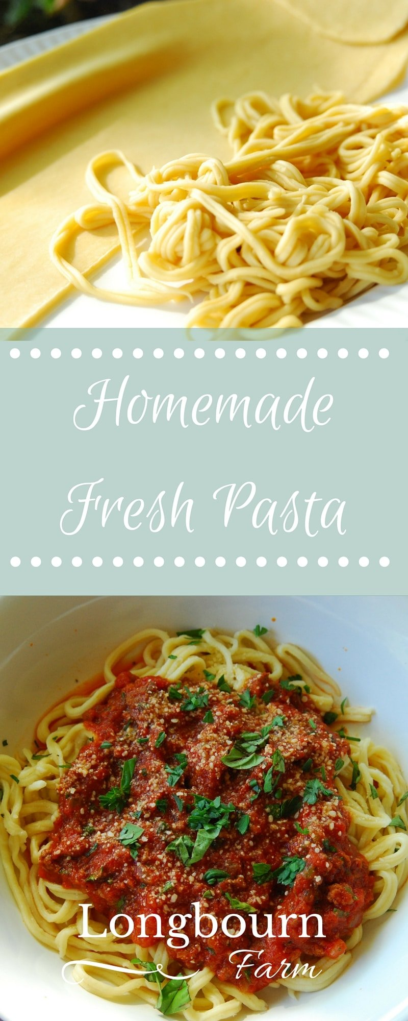 Making your own pasta dough is easier than you think! Get all the details and tips you'll need to wow your family with fresh pasta for dinner tonight! via @longbournfarm