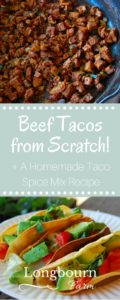 Learn how to make steak tacos from leftover meat (and sneak in some veggies!)! As a bonus, you also get my DIY taco spice mix recipe!