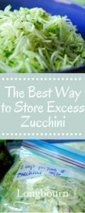 Find out the best way to store excess zucchini! It's easy, fast, and lets you enjoy it all winter long.