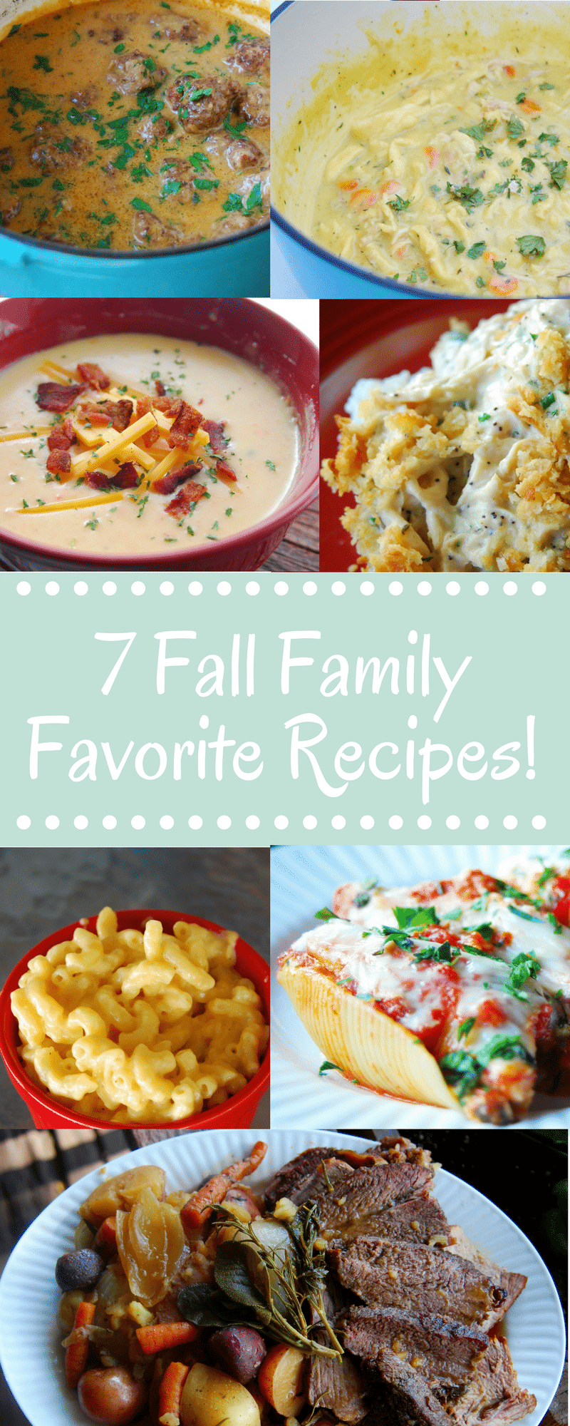 Some of the best fall family dinner recipes! There is everything from soup to pasta, you're sure to find something your whole family will enjoy!