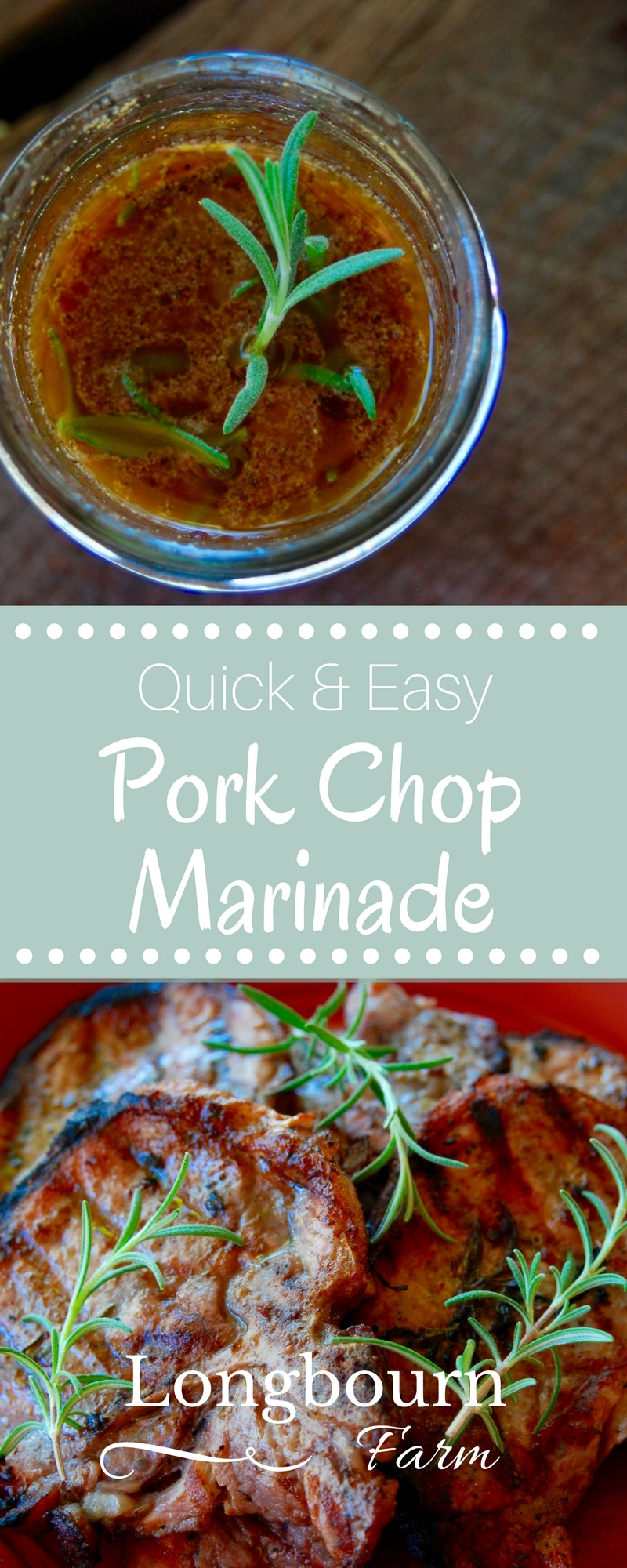 This pork chop marinade for grilling comes together in minutes and is delicious every time. Use it on the grill or on the stovetop, either way, is great!