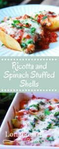 These spinach and ricotta stuffed shells are a family favorite meal. The sauce has a unique flavor, setting them apart from any other stuffed shell recipe.