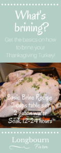 What is brining? In this post we will talk about what meats you normally brine, how brining works, and why you would want to brine your Thanksgiving turkey .