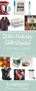 Get the perfect gift for the kitchen, farm or family person in your life! Longbourn Farm's 2016 Holiday Gift Guide is the perfect spot to shop for ideas.