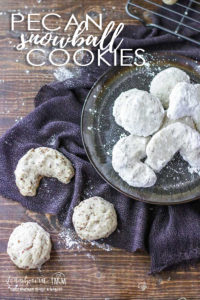 Pecan snowball cookies are perfect for the holidays. Not only is this recipe simple and easy, it is the perfect balance of nutty, sweet, and buttery. #pecansnowballs #pecansnowballcookies #pecansnowballcookierecipe #pecansnowballcookieschristmas