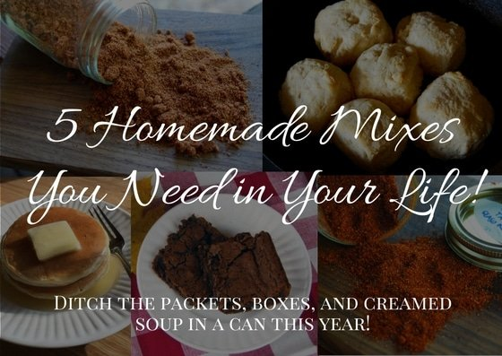 5 Homemade Mixes You Need in Your Life