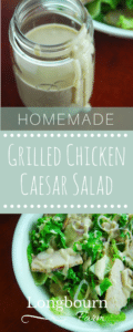 Grilled chicken caesar salad is the perfect light lunch or dinner. Homemade caesar salad dressing is easy to make and so delicious. You can make it, try it!