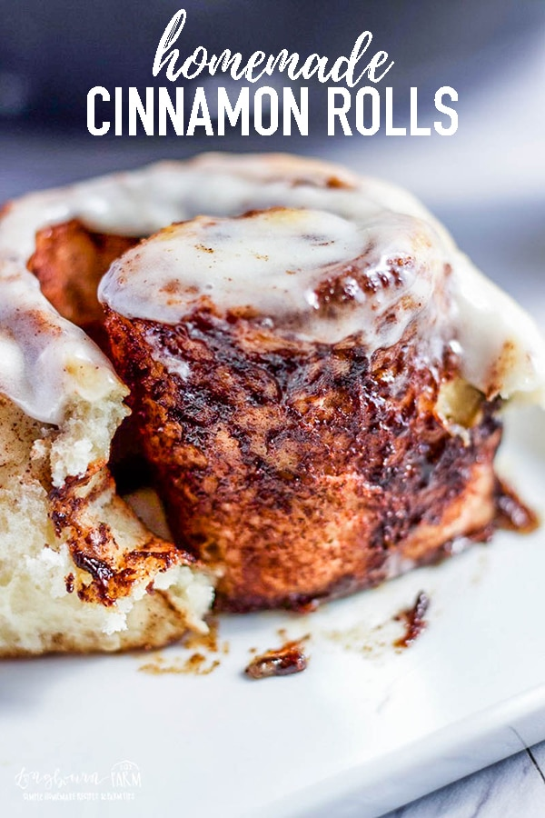 This recipe for the best homemade cinnamon rolls is delicious and simple! The filling is nice and flavorful without being too gooey, they are the perfect balance of roll and filling! #cinnamon #cinnamonroll #cinnamonrolls #homemade #longbournfarm #homemadecinnamonrolls #homemadebread #fromscratch via @longbournfarm