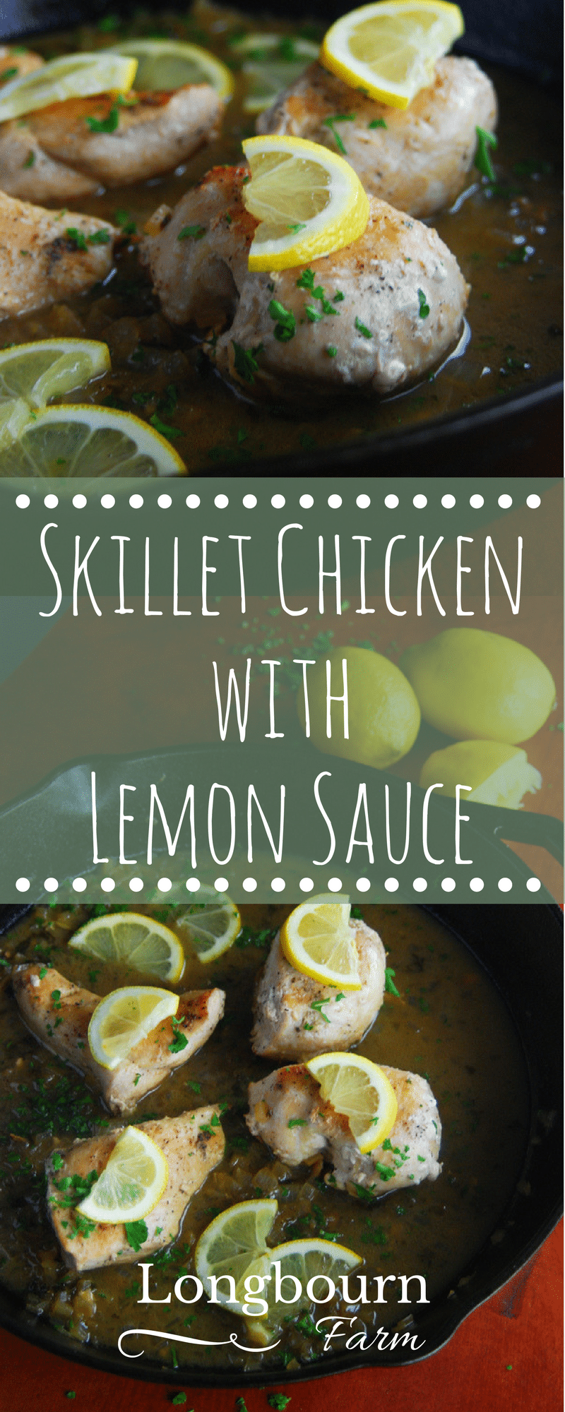 Skillet chicken with lemon sauce is an elegant dinner that only takes 30 minutes to put together. Make this on a weeknight or special occasion!! Try it!