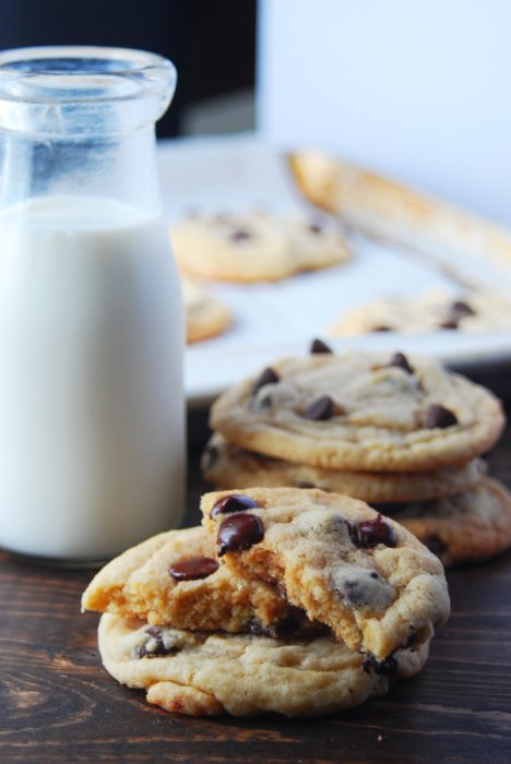 These homemade chocolate chip cookies are easy to make and so delicious. Delicious buttery flavor with perfect crispy edges with a chewy center. The best!!