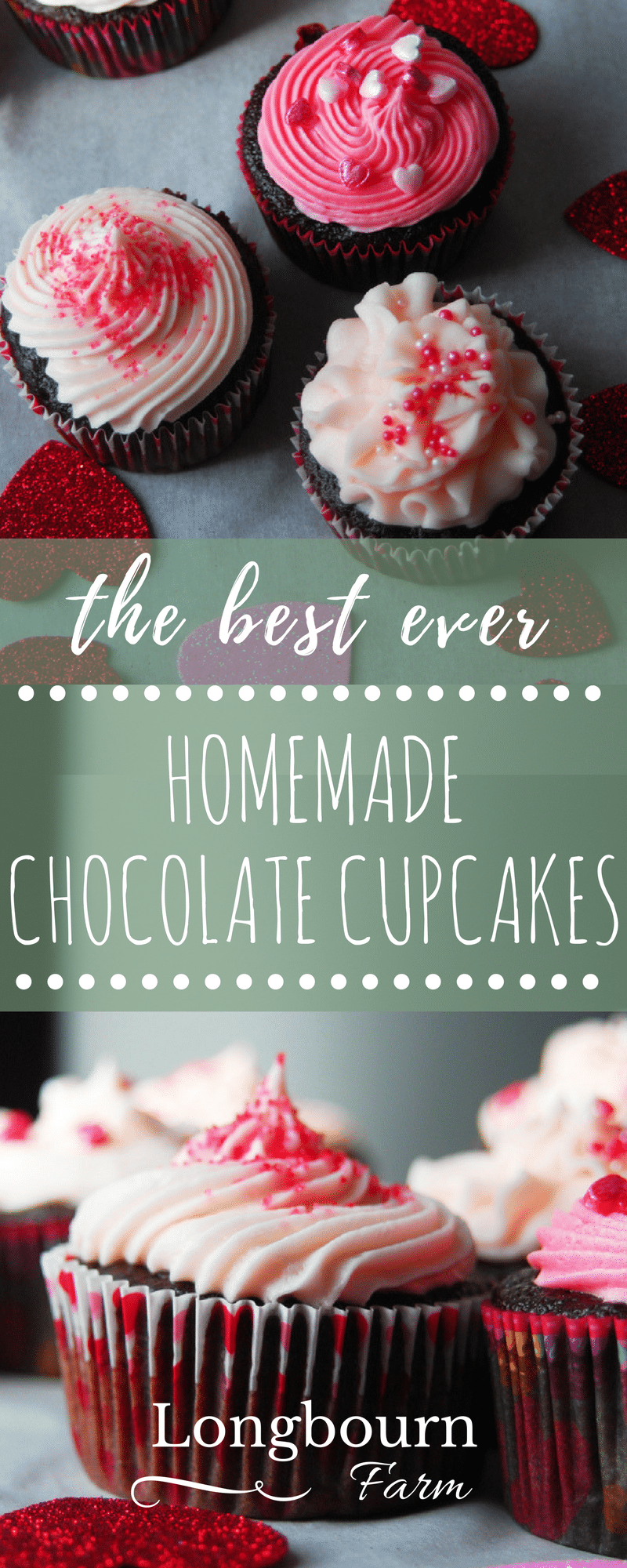 Best ever homemade chocolate cupcakes with whipped vanilla buttercream. Perfectly moist and fluffy, these cupcakes are a breeze to make and so delicious!