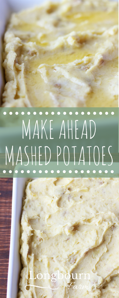 Don't ever eat cold mashed potatoes again! Make ahead mashed potatoes are delicious and convenient. Make them early in the day for a quick side come dinner.