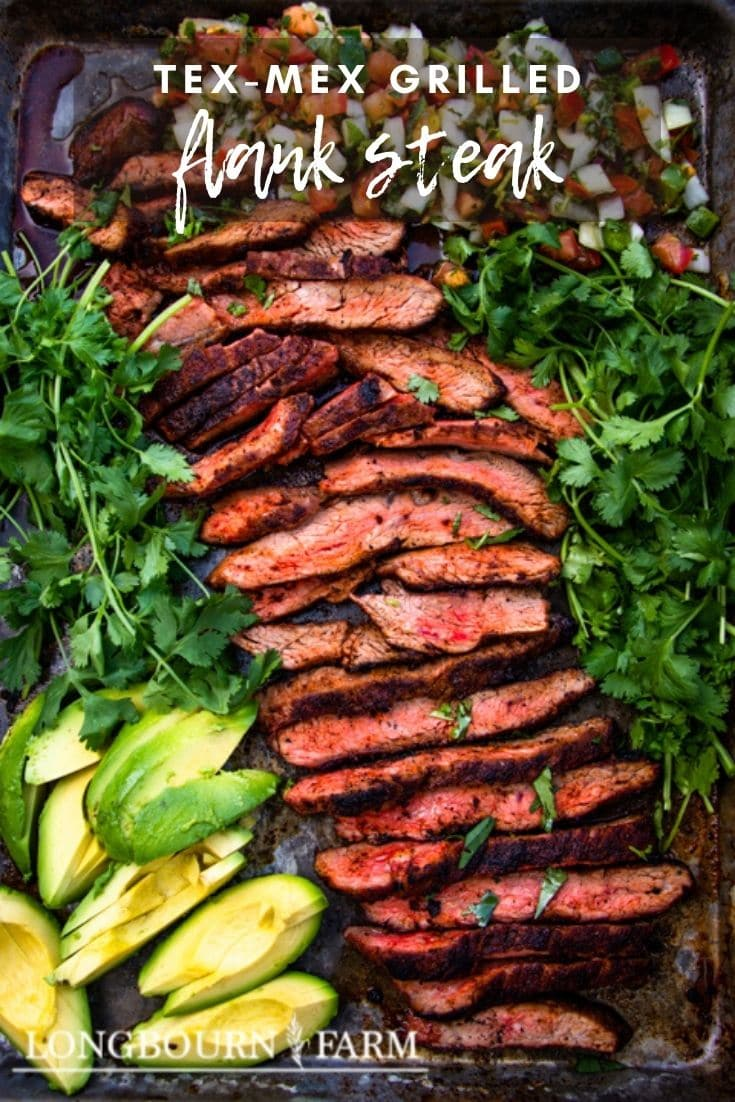 (#sponsored) Grilled Tex-Mex Flank Steak is a quick and easy meal that is a showstopper and crowd pleaser. With zero marinade time and a quick cook time, this Flank Steak recipe is perfect for any occasion. @beeffordinner #BeefItsWhatsForDinner #NicelyDone #BeefFarmersandRanchers #BeefGrillingSeason