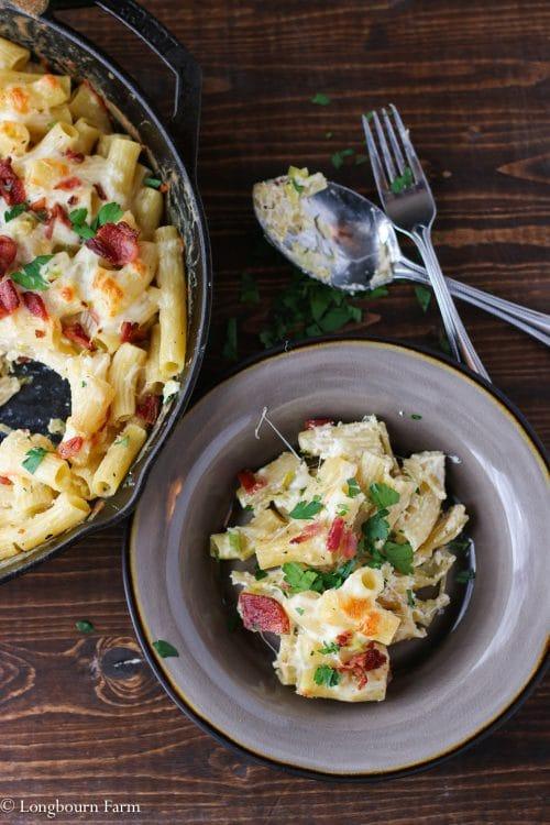 Cheesy Alfredo Pasta Bake Recipe