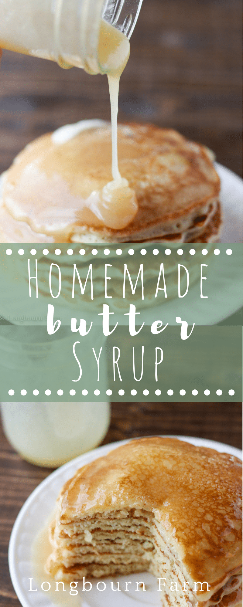 Homemade syrup is easy to make and so delicious! This recipe turns out every time. It's buttery, and thick and has a unique flavor twist! via @longbournfarm