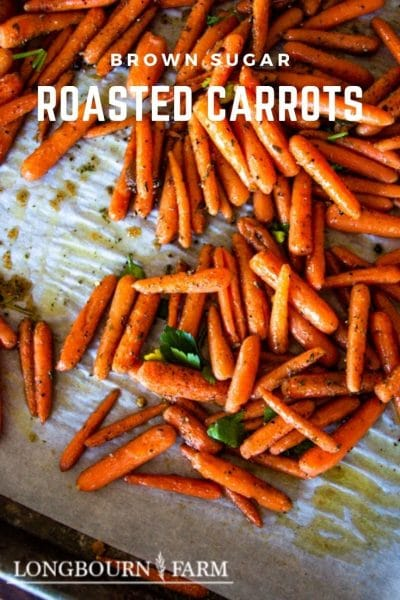 Oven Roasted Brown-Sugar Carrots