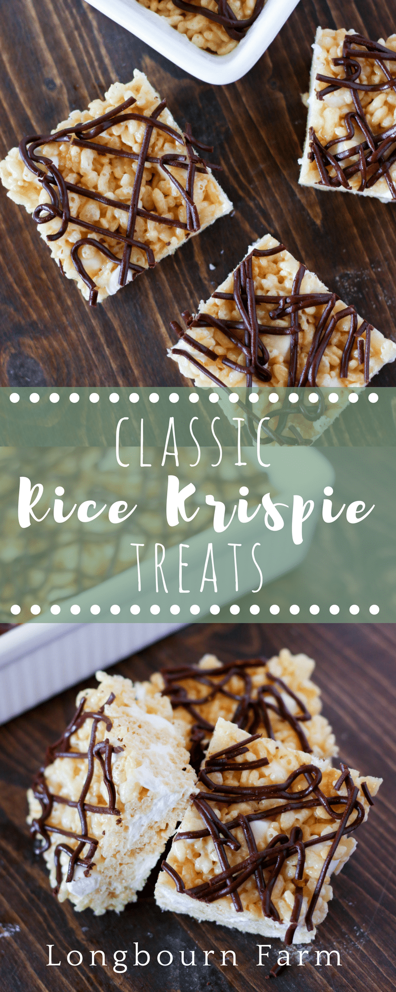 These rice krispie squares are is perfect for summer! Classic, easy, and no baking required. Some twists to the original will make them a hit! via @longbournfarm