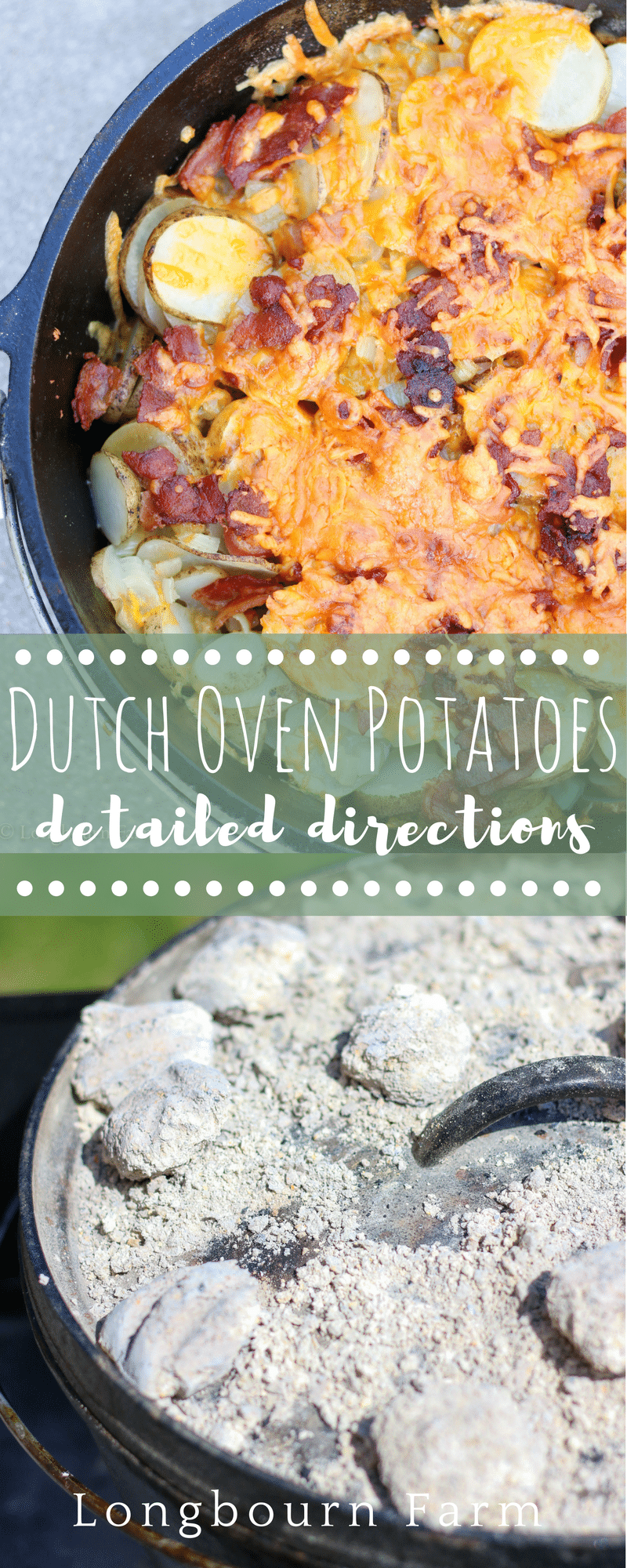 Dutch oven potatoes are a flavor-packed camping classic! A simple & delicious recipe with detailed instructions, even directions for cooking indoors.