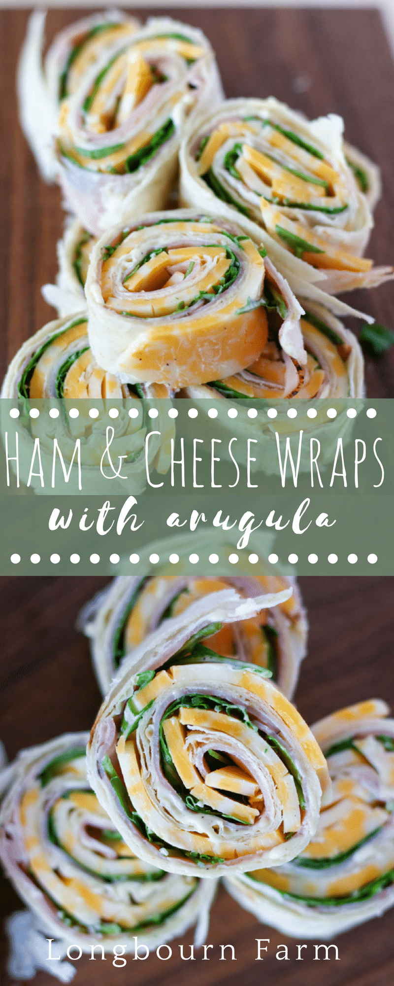 These easy ham roll ups make the perfect quick lunch or a delicious appetizer that is sure to please everyone! Kid and adult approved! via @longbournfarm