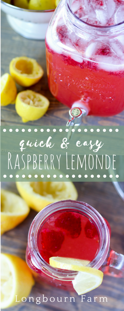 Raspberry lemonade is easy to make and will be a hit at your next summer gathering. Fresh lemons and ripe raspberries give amazing flavor and color!