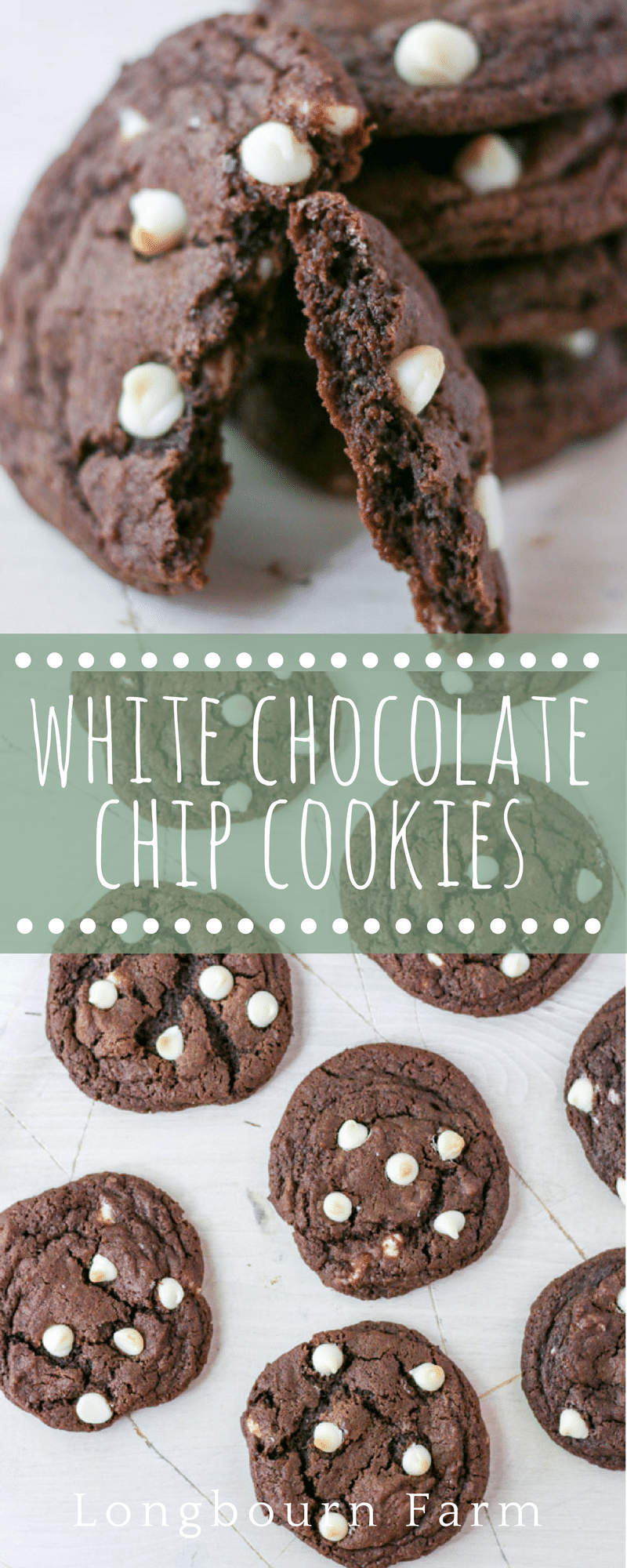 These white chocolate chip cookies are rich and decadent with a silky smooth texture! They are easy to make with ingredients you are sure to have on hand! via @longbournfarm
