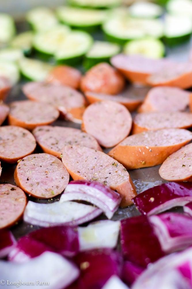 Sausage Sheet Pan Dinner!