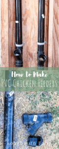 Easy DIY PVC Chicken Feeder! All the supplies and step-by-step instructions (with pictures!) so you can make your own. Make it today for less than $10!