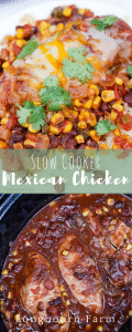 Slow cooker mexican chicken is delicious, packed with flavor and easy to make! Serve it over rice, quinoa, or even in a taco salad! Instant Family Favorite!