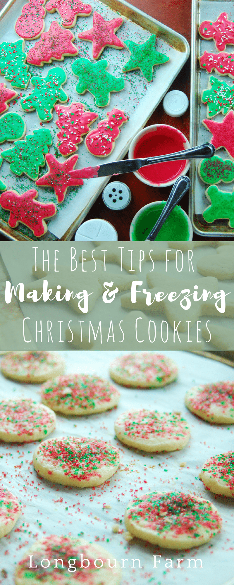 Get tips for making, storing, and freezing the best Christmas cookie recipes! These tips make getting ready for any family Christmas party a breeze! via @longbournfarm
