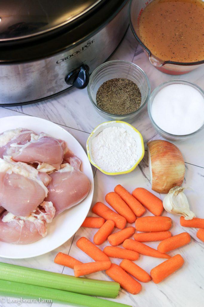 Slow Cooker Chicken Pot Pie!