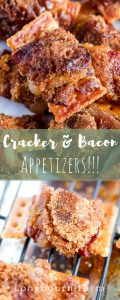 This cracker bacon appetizer is so simple to put together, can be frozen for later, and tastes AMAZING! Salty, sweet, and a little spice will be perfect for your next party or holiday!!