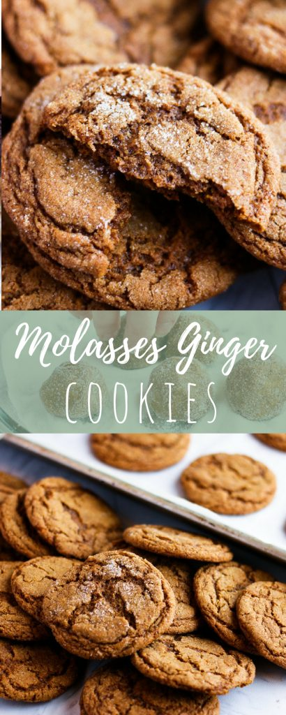 Molasses ginger cookies are deliciously chewy and packed with holiday-spice flavor. Making homemade Christmas cookies has never been easier - or more tasty!