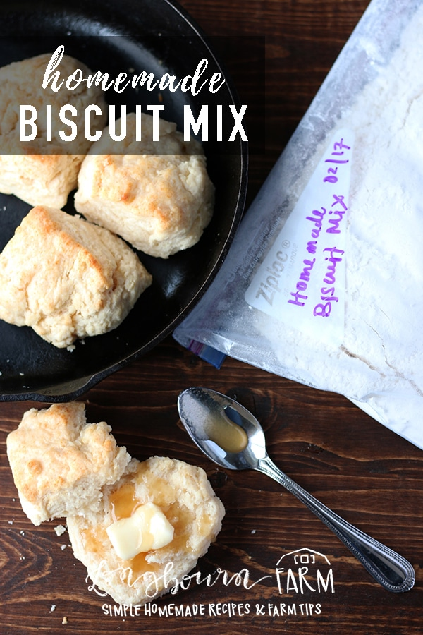 This homemade biscuit mix recipe is easy and delicious. It makes having homemade quick bread a snap at any meal! Light and fluffy biscuits, every time. #homemadebiscuits #biscuit #biscuits #homemademix #biscuitmix #fromscratch #homemade #bread #quickbread #biscuitdough via @longbournfarm