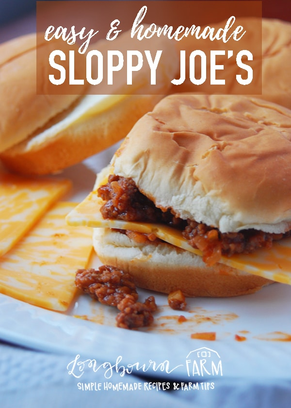 This easy sloppy joe recipe is a total crowd pleaser and this quick, unique and flavorful recipe is sure to be a hit with the entire family. Try it today! #sloppyjoes #beef #groundbeef #beefsandwich #sloppyjoerecipe #easydinner #quickdinner #homemade #fromscratch #homemadesloppyjoe