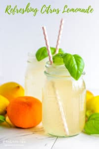 Refreshing citrus lemonade is made with lemon, orange and grapefruit juice. It's the perfect blend of tangy and sweet and will be an instant hit. Easy enough for everyday and tasty enough for special occasions! #citrus #lemonade #homemade #homemadelemonade #lemonadefromscratch #lemon #orange #grapefruit #lemonjuice #orangejuice #grapefruitjuice #citruslemonade